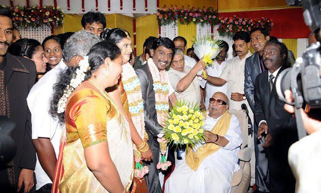 Vasanth Vijay wedding reception stills 2