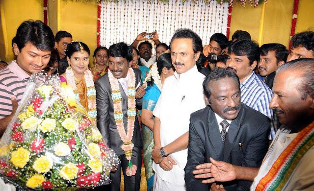 Vasanth Vijay wedding reception stills 7