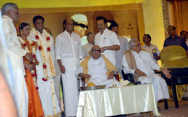 Rajini @ former minister R M Veerappan's Son  wedding reception 5