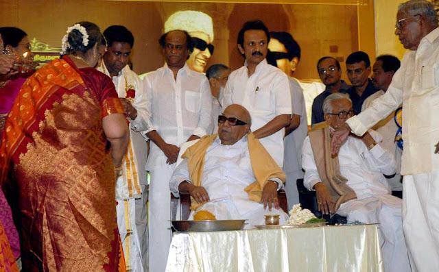 Rajini @ former minister R M Veerappan's Son  wedding reception 7