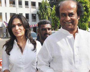 Rajini helps for Soundarya