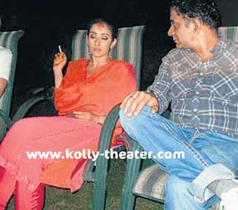 Manish Koirala smokes on her wedding day