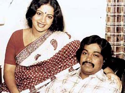 Srividhya with her husband