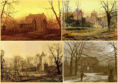 Grimshaw, 4 vues de Knostrop Hall à l'aube.