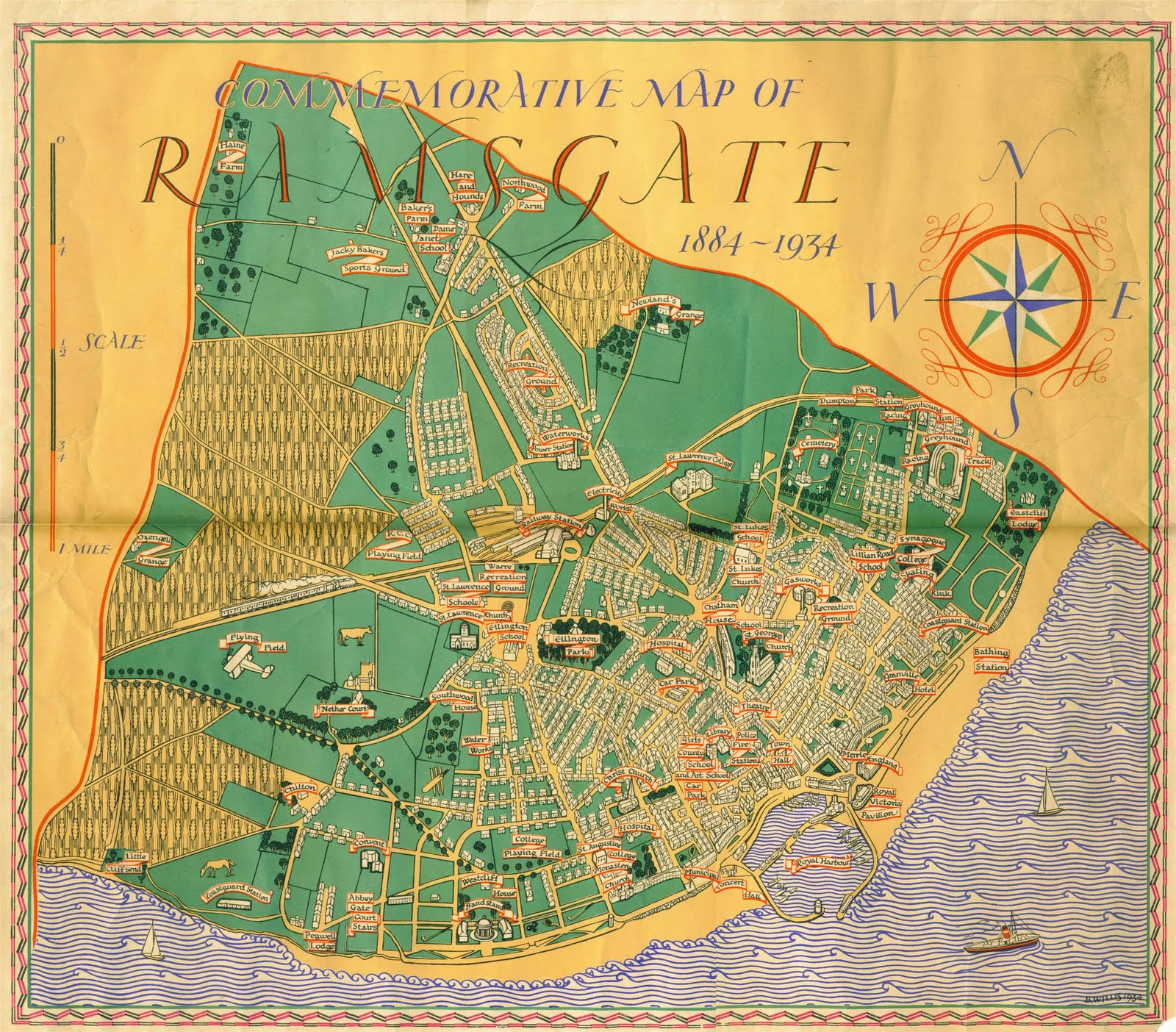 Map Of Ramsgate thanetonline: Sunday ramble and another old map of Ramsgate.