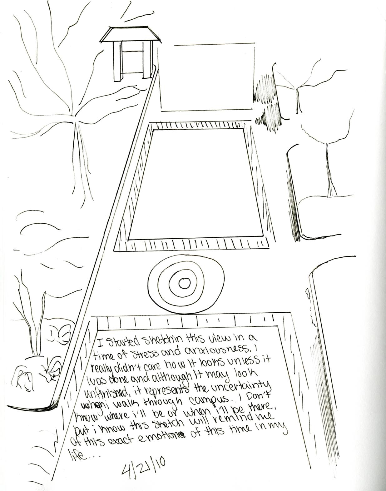 Stephanie Schmitt: Sketching Scavenger Hunt-Clue 1 4/22/10