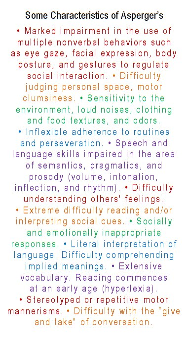 mainely musings  asperger u0026 39 s syndrome cards