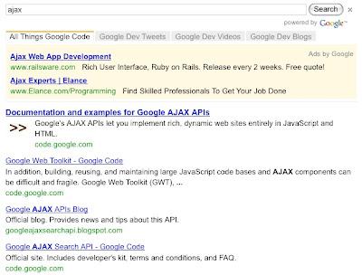 Google Custom Search: Custom Search with Style like Peanut
