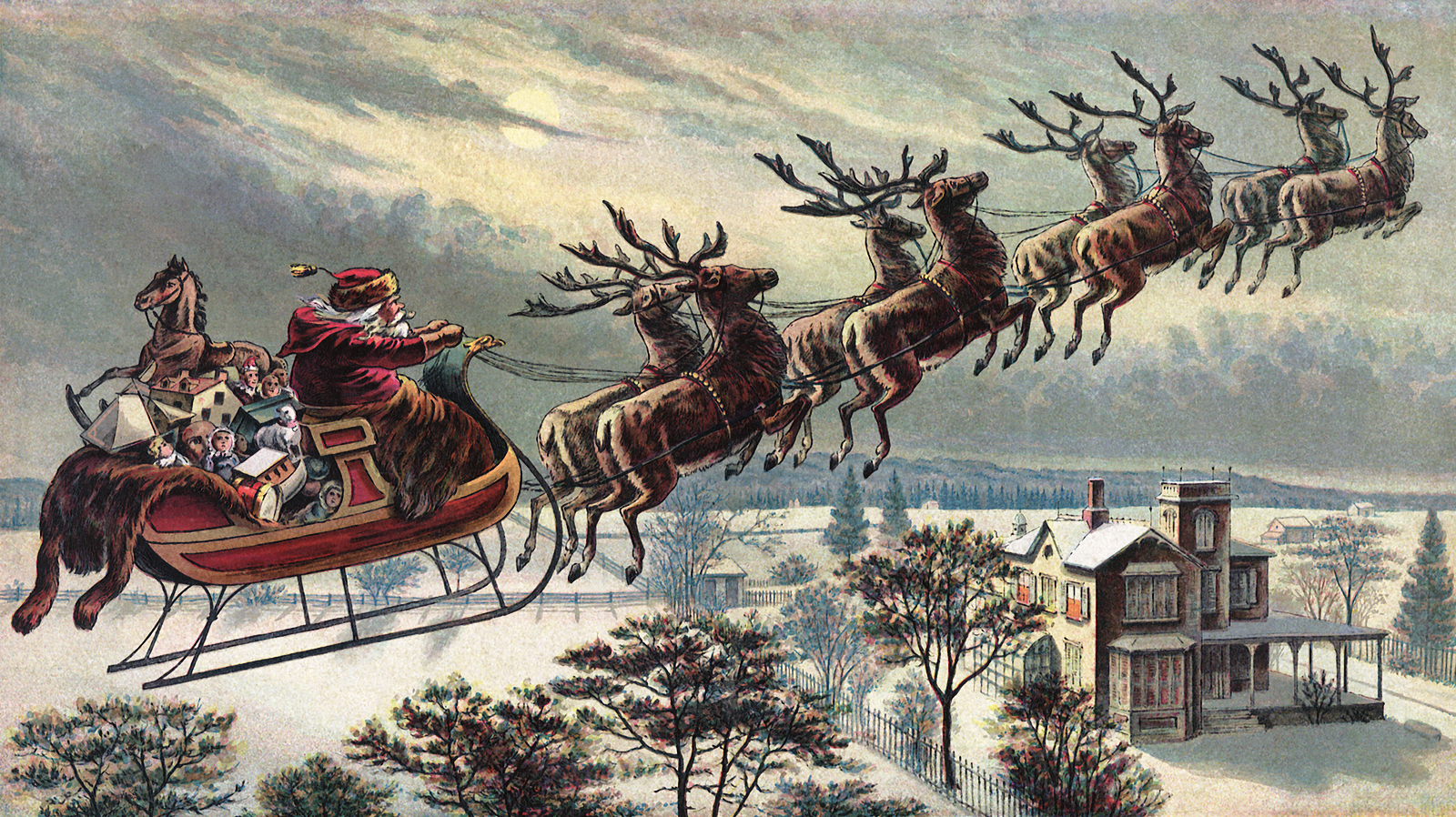 pictures of santa and his sleigh a few more retro santa claus and holiday posters the 3782