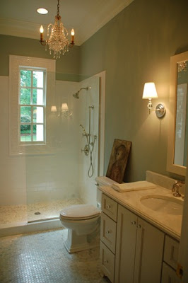 frou frou maison: master bath = subway tiles, full moon, etc.