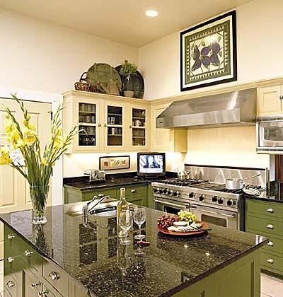 C b i d home decor and design exploring wall color for Avocado kitchen cabinets