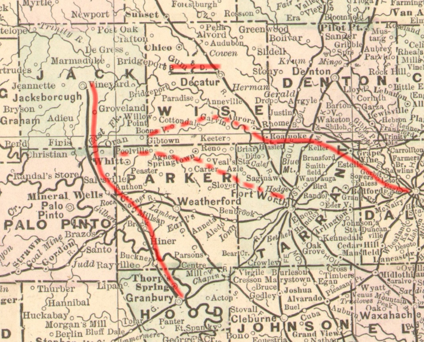 Map Of Texas Railroads.The Fort Worth Gazette The Lost Railroads Of North Texas 19th
