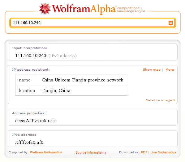 RNIT: Things to do with Wolfram|Alpha when you're bored: IP