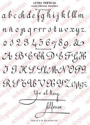 S lo plumas caligrafia letra espa ola vertical - Como mejorar la caligrafia ...
