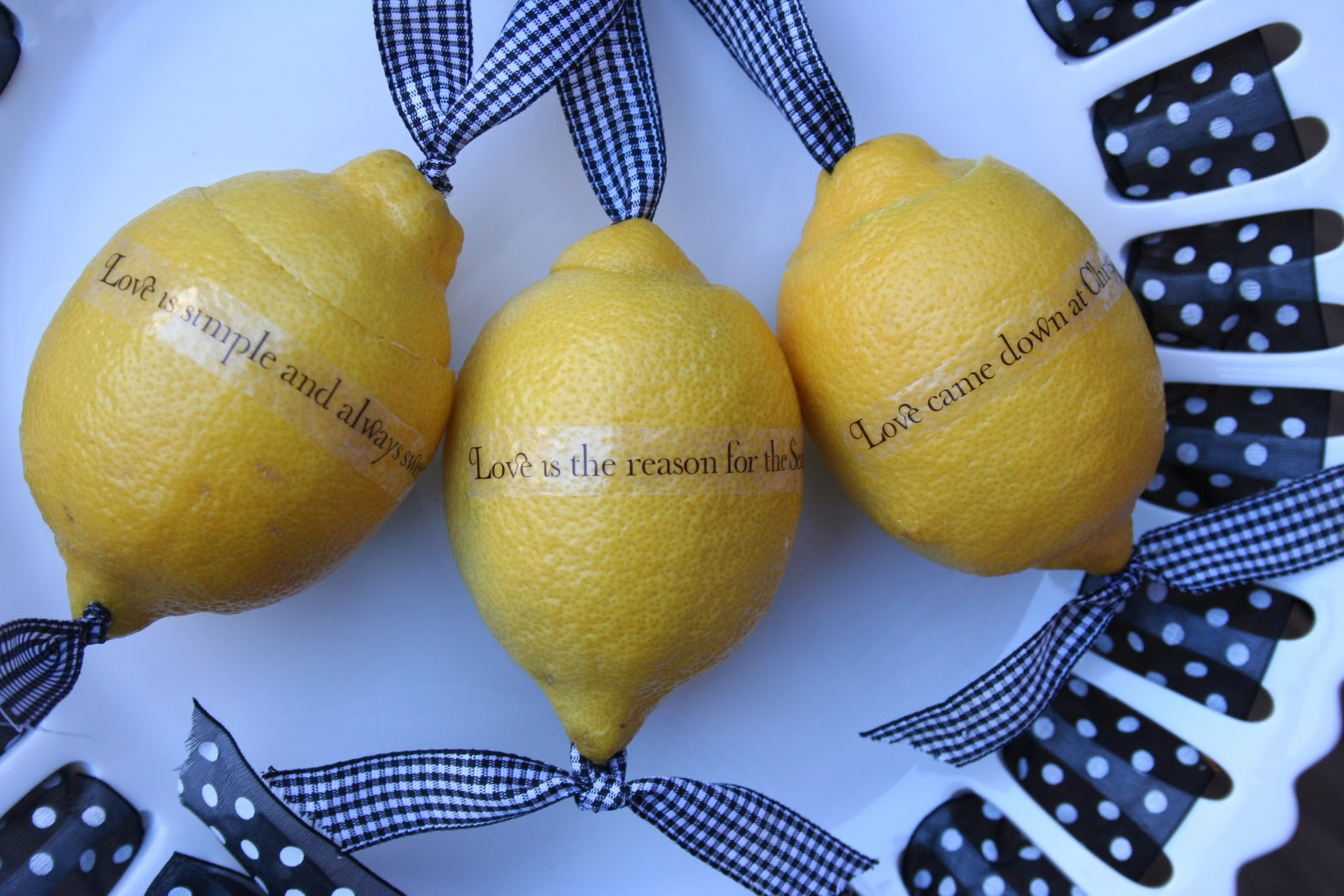 Lemon Ornaments Christmas Tree Decorations With Little Money