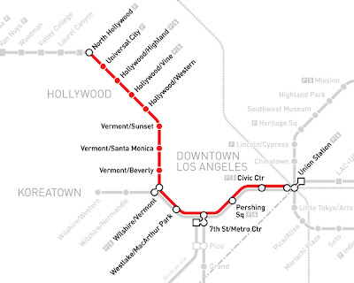 Redline Metro Map Los Angeles.Metro Red Line Www Picturesso Com