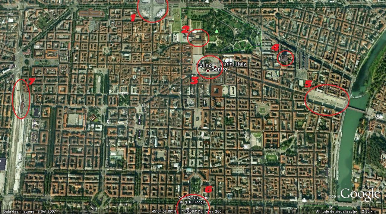 mapa de turim Ciao Torino!: Mapa de Turim mapa de turim