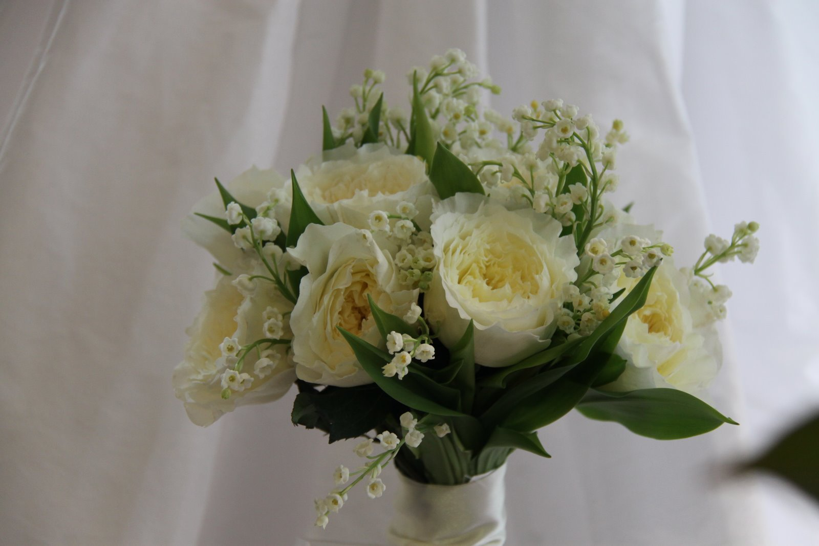 Lily Of The Valley Wedding Bouquet: The Flower Magician: Lily Of The Valley & Patience Rose