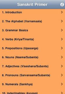 Sanskrit on the iPhone