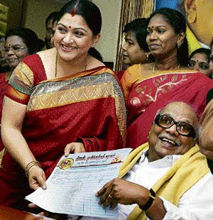 Kushboo joins DMK interview