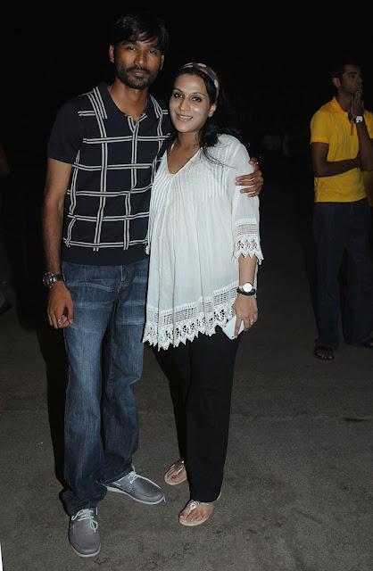 Actor Dhanush with wife Aishwarya