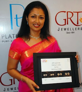 Gauthami Launch GRT Jewellers launches first ever platinum coin