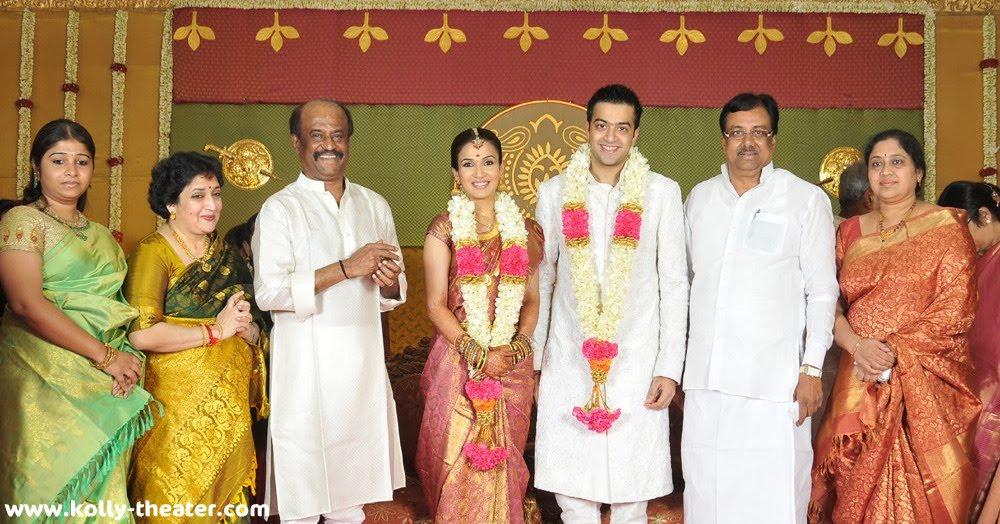 rajinikanth daughter marriage veethi