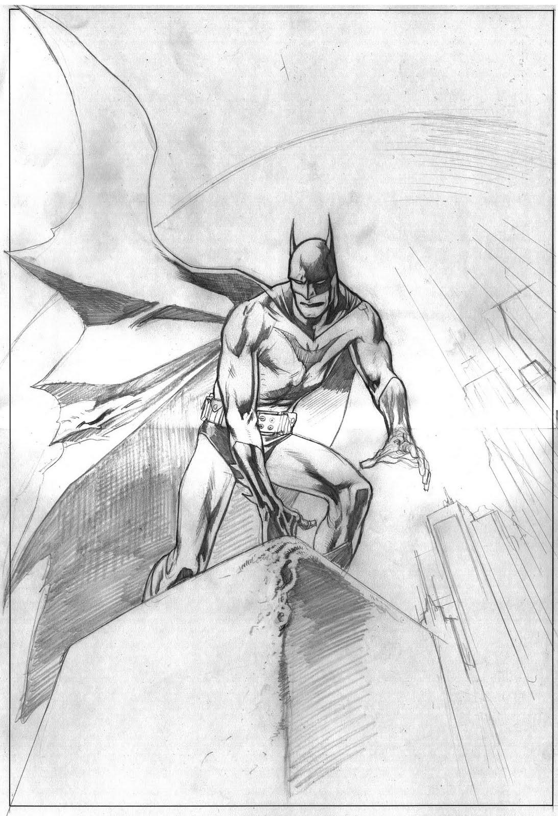 Kevin Nowlan: Batman gargoyle drawing #3