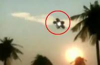 لقطة من فيديو مفبرك يزعم تحليق أطباق طائرة في مدينة ينبع السعودية، يهدف ذلك الإنتاج السينمائي هدفاً لشهرة فردية لبعض الناس