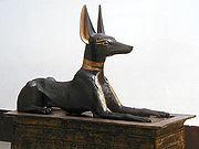 تمثال أنوبيس كان يحرس مدخل كنوز توت عنخ آمون.