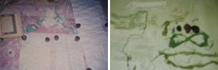 أدلة على أعمال السحر عبارة عن شعر إنسان ميت وطلاسم وسور قرآنية مكتوبة بالمقلوب