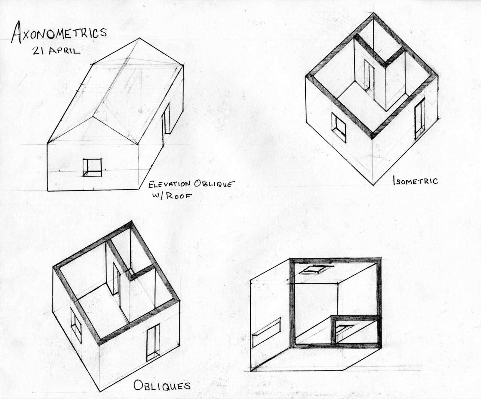 Chalfin Drawings Axonometrics