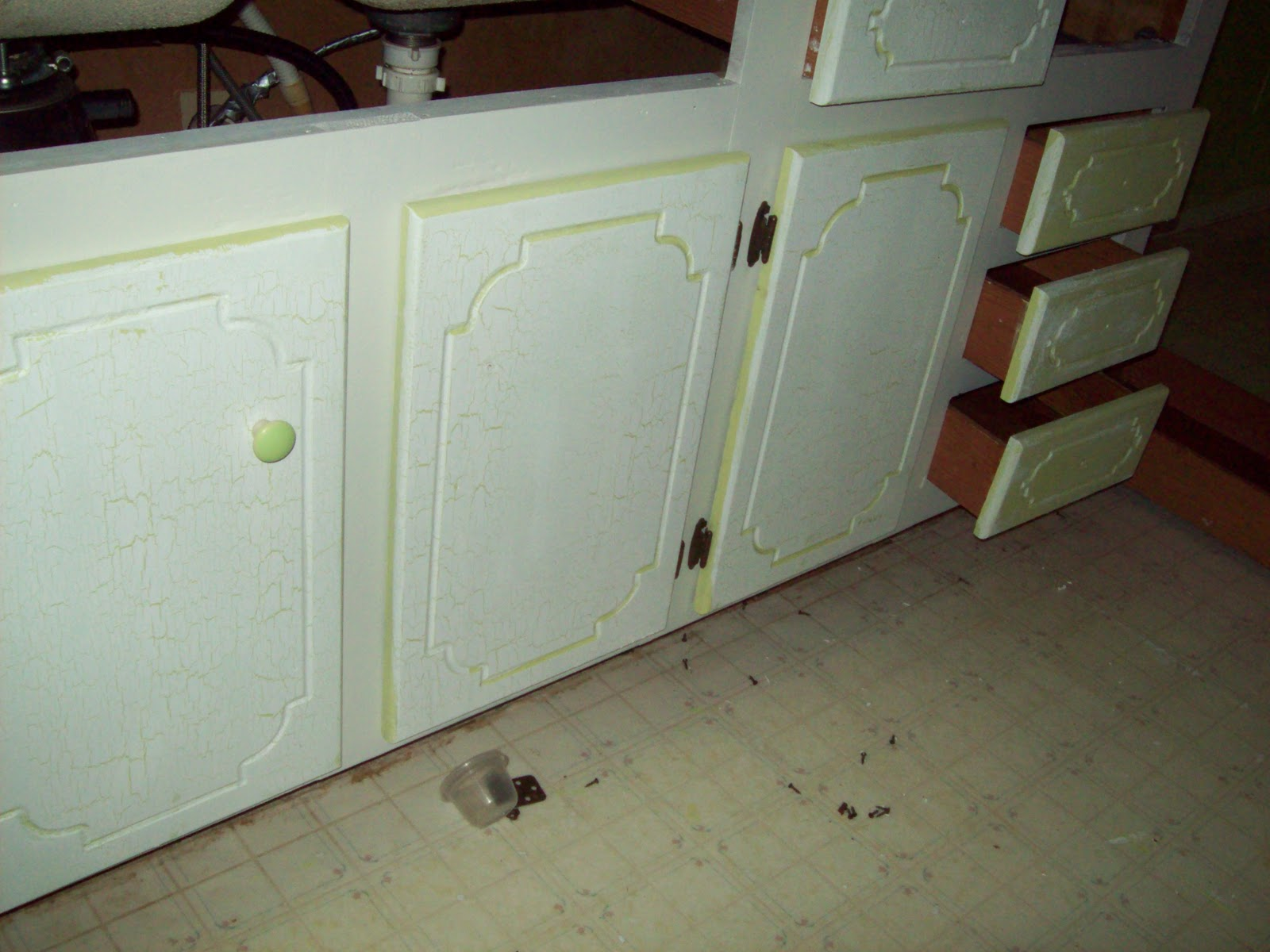 Crackle Paint Kitchen Cabinets Married And Inspired Kitchen Project Painting Old Cabinets