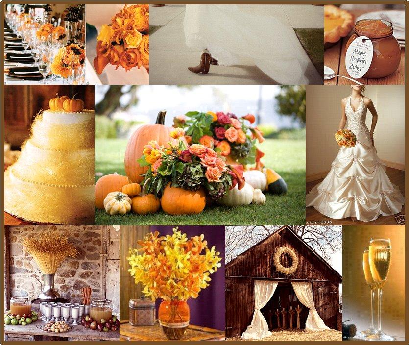 October Outdoor Wedding Ideas: Peach Pizzazz!: Fall Wedding Roundup