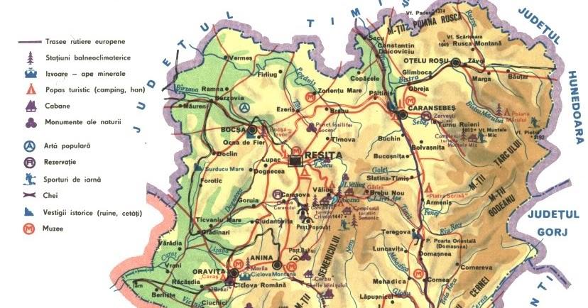 Romania Live Resita Semenic Valiug Live Webcam Harta Turistica