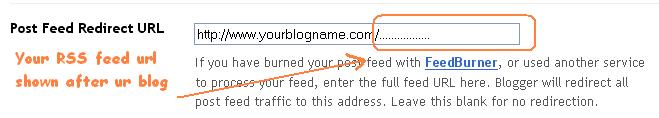 Post feed redirect URL