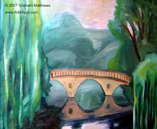 Cambridge Bridge Painting