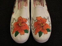 Lilies Tattoo shoes