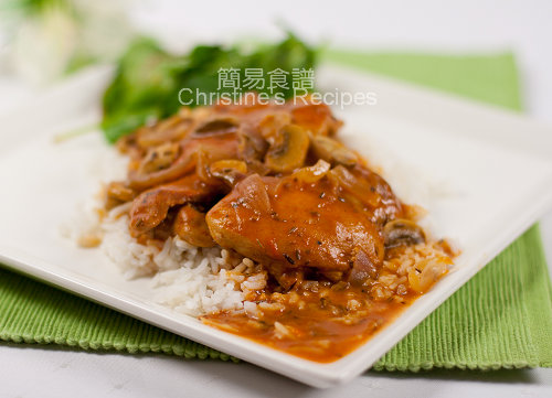 香草蘑菇炆雞扒 Braised Chicken Thighs with Button Mushrooms02