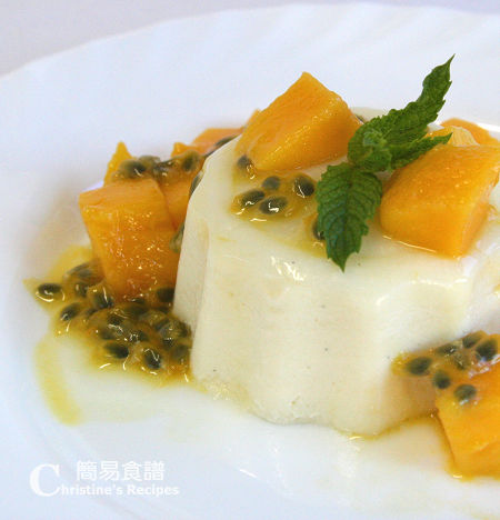 意式芒果奶凍  Pandan Panna Cotta with Mango and Passionfruit03