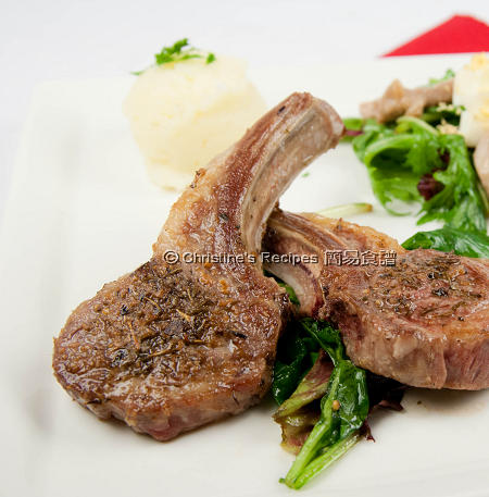 煎羊扒 Fried Lamb Cutlets