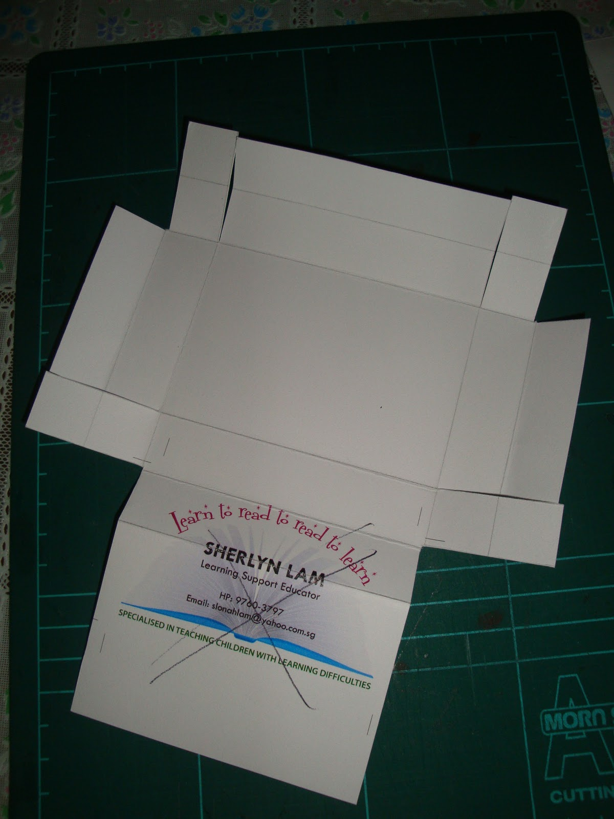 reflect  relate  customized name card box