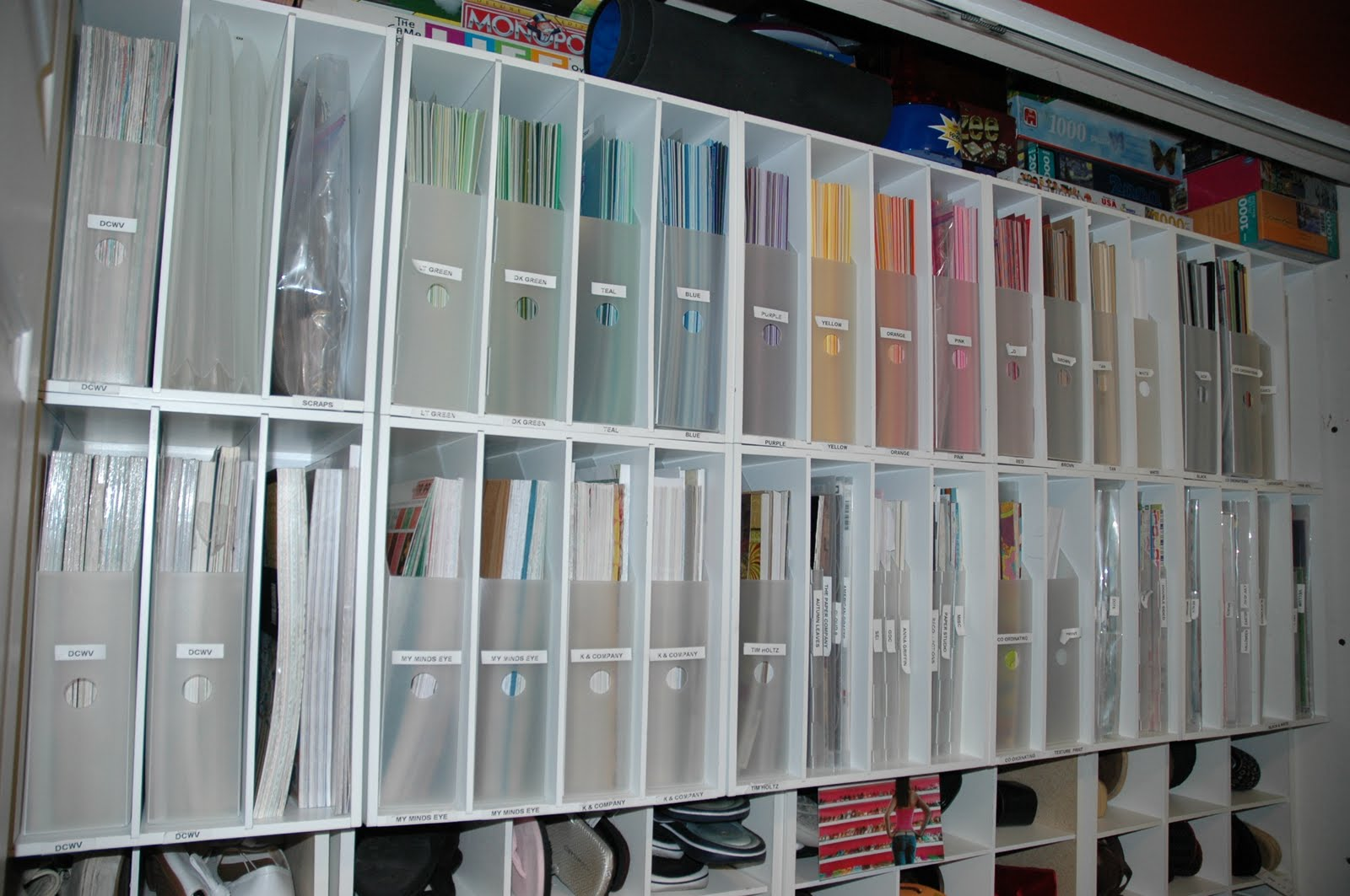 Creations By Christie: My Paper Storage System