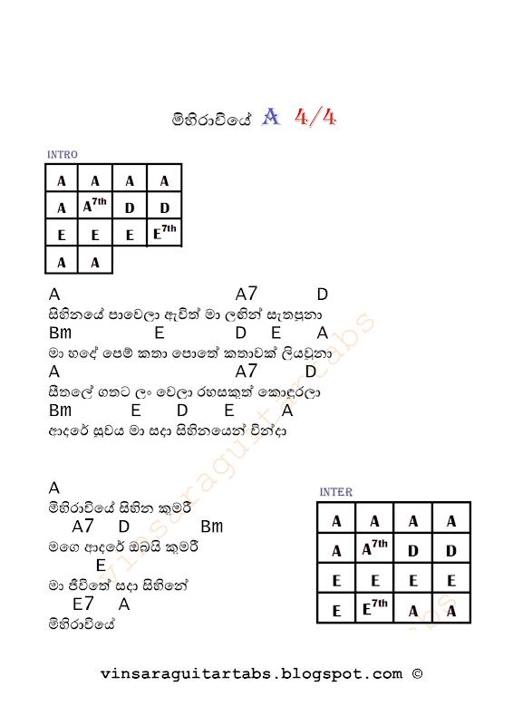 Guitar guitar chords sinhala songs : Mihiraviye Guitar Chords   Sinhala Guitar Chords Sinhala Songs ...