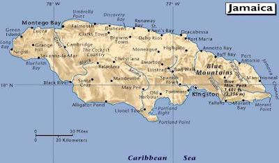 jamaica map caribbean sea