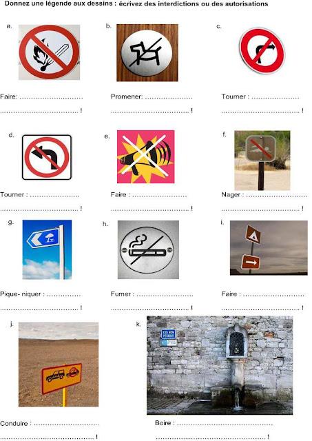 Znaki drogowe - ćwiczenie 1 - Francuski przy kawie