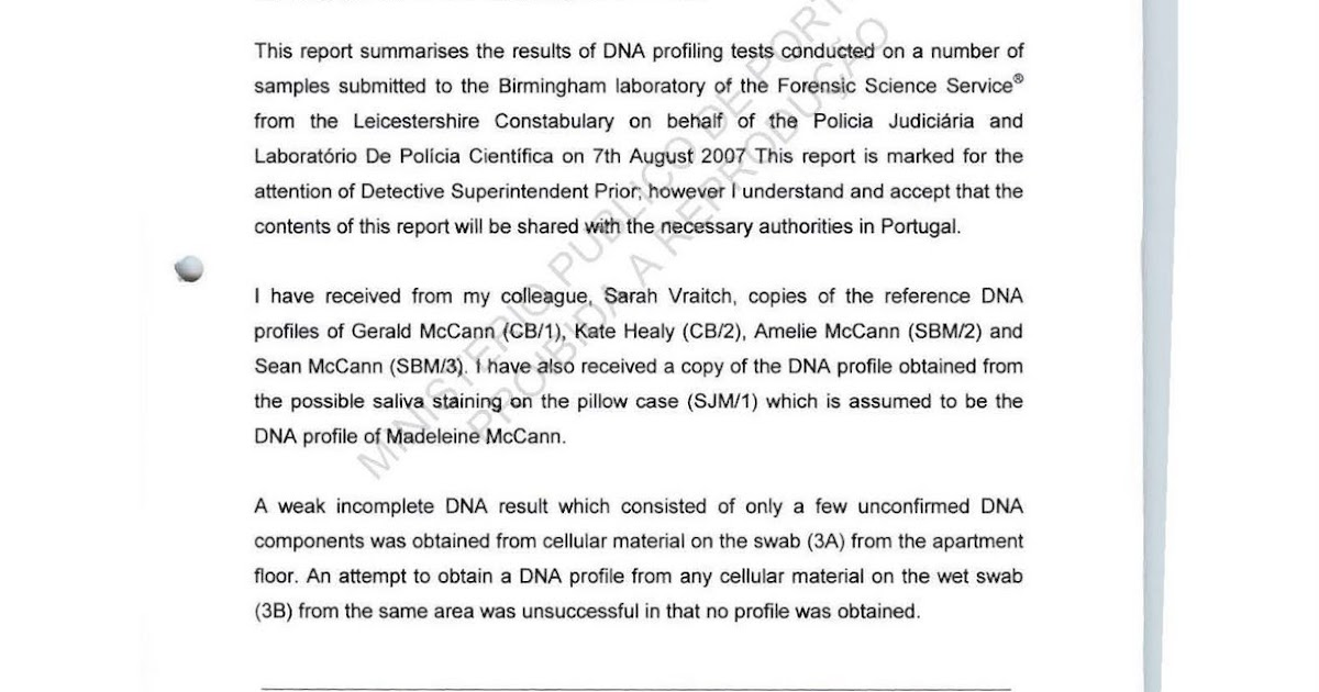 The Madeleine Mccann Process Files - Page 2641 - Joana Morais