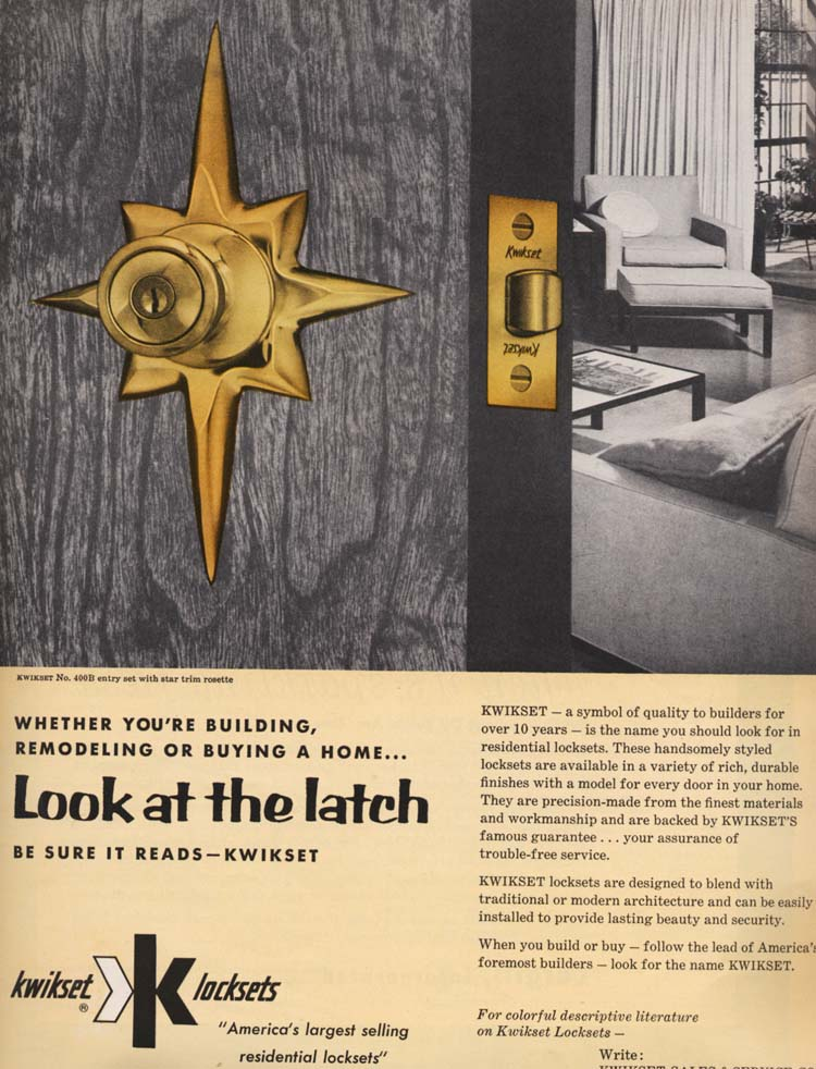 Mad for Mid-Century: Ads for Mid-Century Door Knobs