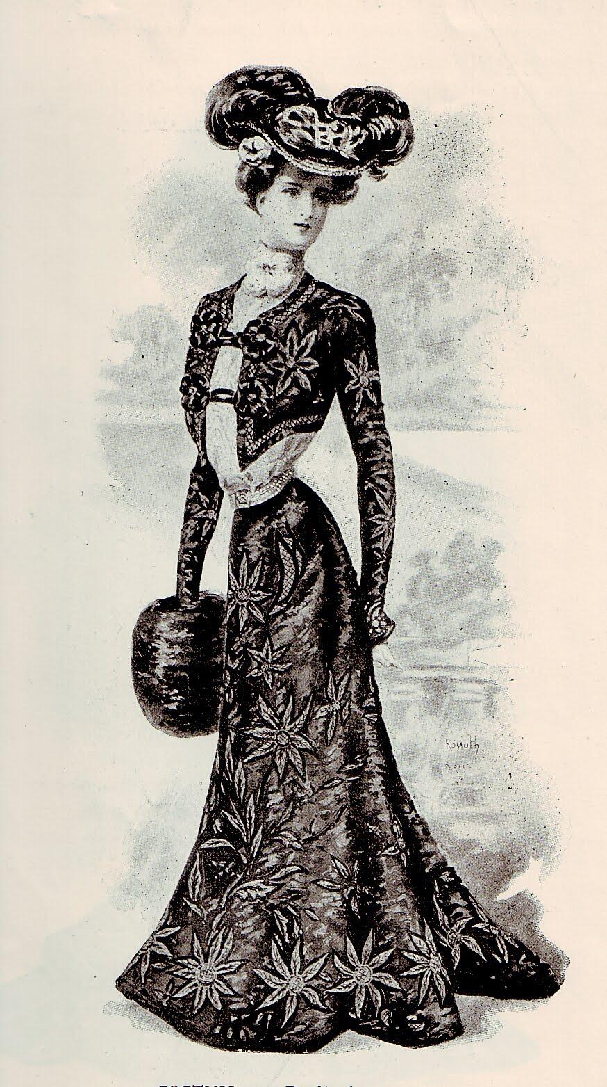 Vintage Ephemera: French Fashion Plate, 1900