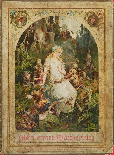 Vintage Ephemera Cover Of German Fairy Tales Book